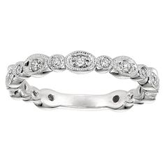 White Gold Diamond Stack Ring LR4750W45JJ