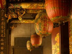 China, red and yellow lanterns Red Lantern, Yellow Lanterns, Chandeliers, Hygge Home Interiors, Japanese Paper Lanterns, Vintage Lanterns, Vintage Chinese Lanterns, Style Asiatique, Chinoiserie Chic