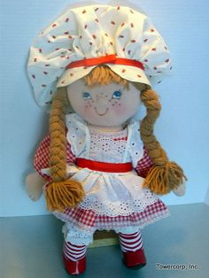 Cloth Doll PDF Pattern Kitty from the Country by PeekabooPorch, $9.00