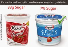 instead of having a yoplait yogurt what you can do is eat a Greek yogurt because it is plain, unsweetened and 0% fat. http://thevenussystem.blogspot.ie/2014/05/quit-sugar-today-to-lose-10-pounds-in-2.html