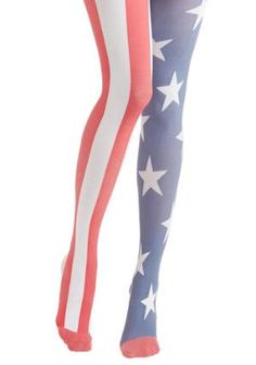 Yea or Nation Tights in United States | Mod Retro Vintage Tights | ModCloth.com