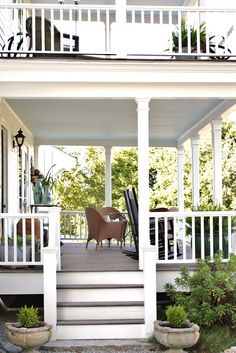 Dualing porches . . . one (or both) should be screened, with swing-beds, maybe a fireplace . . .