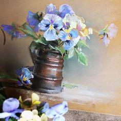 В процессе #анютиныглазки #pastel #pasteldrawing #пастель #цветы #лето