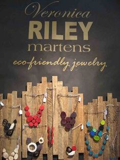 Reclaimed wood jewelry display