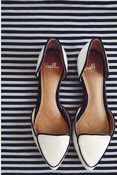 Ivory flat wedding shoes by Shelly via The Darling Detail