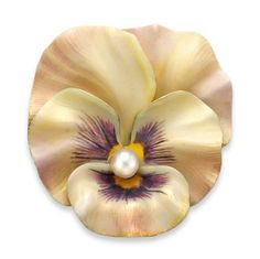 AN ANTIQUE ENAMEL AND PEARL PANSY BROOCH - Bentley & Skinner