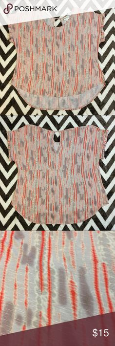 TRENDY+ Ava & Viv 4X soft tie dye top Super soft and flowy, with a longer rounded bottom, and adorable keyhole back! Pair this top with your fave pair of light wash distressed jeans, and off you go! Fits any size 4X. Ava & Viv Tops