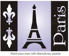 French Decor Stencil Fleur Paris Eiffel Tower Ooh La La Chic Craft Signs U Paint | eBay