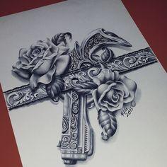 Thigh tattoo ❤️❤️