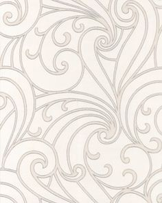 Ornamental and simple. The Swirls in this design are line drawn with glitter for a soft finish. This graphic shape is combined with luscious metallics for an in
