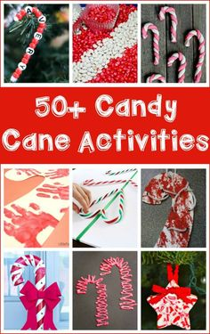 Over 50 hands-on candy cane activities for kids and families to make together. Arts and crafts, snacks, science, math, sensory, etc.