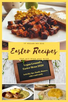 17 Vegan No Egg Easter Recipes that will blow your mind 17 Vegan No Egg Easter Recipes that will blow your mind Easter has never tasted so good! These recipes are great for both kids and adults. Best Vegan Recipes, Vegetarian Recipes Easy, Healthy Dinner Recipes, Whole Food Recipes, Recipe T, Plant Based Whole Foods, Recipes For Beginners, Easter Recipes, Thanksgiving