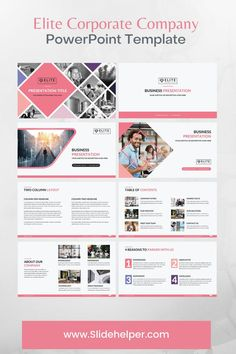 #powerpoint #template #business #presentation #design Company Presentation, Presentation Slides, Business Presentation, Presentation Design, Professional Powerpoint Templates, Marketing Data, Corporate Business, The Help, Knowledge