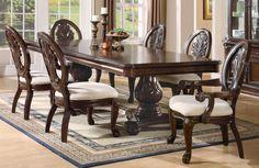 Coaster 101037 Tabitha Traditional Dining Table Dark Cherry New   $1009.00