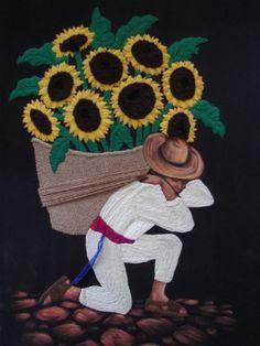 Cuadro GUATEMALTECO Frida Art, Mexican Art, Color Pallets, Op Art, Black Art, Decoupage, Textiles, African, Embroidery
