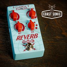 The Reverb SME. This small box can sound like some pretty big places with the twist of the Size knob. Everything from Spring style reverb to huge cave like sounds. Separate Wet and Dry controls allow for as much or as little of each signal as you want. Also featured is a Texture knob to adjust the tone of the reverb signal, and of course our True Bypass Switching system.  http://coastsonic.com/collections/cusack-music