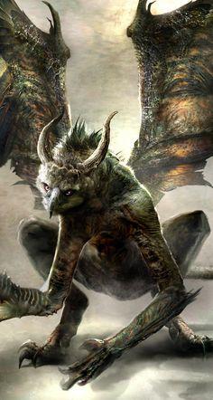 Wrath of the Titans Concept Art by Daren Horley Demons, Moose Art, Demons 2, Devil, Ghosts