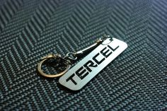 Toyota Tercel Keychain Tercel Keyring Toyota Key Tag Keychain for Toyota Tercel Stainless Steel Key chain Lasercut Key Ring Toyota by Toyota Tercel, Key Tags, Key Chain, Stainless Steel, Personalized Items, Ring, Unique Jewelry, Handmade Gifts, Accessories