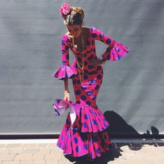 latest ankara styles for wedding: check out Perfect Scintillating Ankara Styles For Wedding Party African Fashion Ankara, African Print Fashion, African Attire, African Dress, Flamenco Costume, Flamenco Dresses, Flamingo Dress, Latest Ankara Styles, Quirky Fashion
