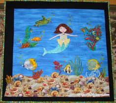 Mermaid quilt is an original design I made for a challenge!