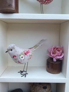 Handmade fabric bird. Etsy MadebyDiOsman
