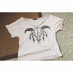 Skull tee Oversized skull tee. Size large, but would be a cute flowy medium too. 50 perfect cotton. Tee is a very light pink color. Not white. Rock rose classic Tops Tees - Short Sleeve