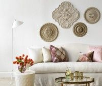 Another version of the ready-made ceiling rosettes