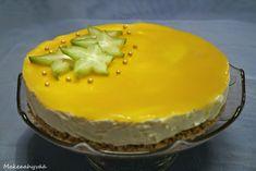 Sitruunainen+mangojuustokakku