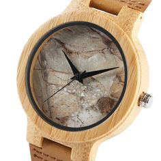 Cheap gift gifts, Buy Quality gift men directly from China gift clock Suppliers: Sport Mens Wooden Watch Cool Marble Stone Rock Pattern Japanese Quartz Wristwatches Time Leather Strap Nature Wood Clock Gifts Rolex, Wooden Watches For Men, Wood Clocks, Leather Gifts, Marble Stones, Wood Watch, Bracelets, Quartz, Wristwatches