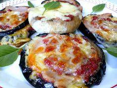 ΜΑΓΕΙΡΙΚΗ ΚΑΙ ΣΥΝΤΑΓΕΣ 2: Μελιτζάνες και μανιτάρια ψητά με γεύση πίτσας!!