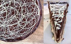 Chocolate Swirl Baked Cheesecake Recipe - Philosophy Of Yum Blog Chocolate Swirl Cheesecake, No Bake Vanilla Cheesecake, Baked Cheesecake Recipe, Chocolate Drizzle, Oreo Cheesecake, Chocolate Ganache, Sandwich Bags, Home Bakery, Cream Cream