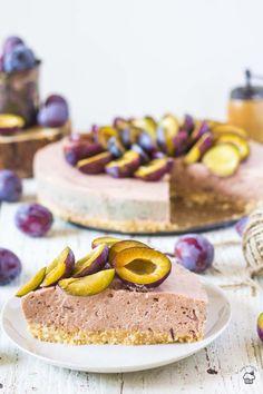 nepečený slivkový cheesecake Tiramisu, Ale, Cheesecake, Desserts, Food, Tailgate Desserts, Deserts, Ale Beer, Cheesecakes