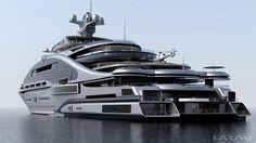 "Gigayacht Konzept ""Prelude"" (Laraki Yacht Design) My Goodness how Horrible! - Gigayacht Konzept ""Prelude"" (Laraki Yacht Design) My Goodness how Horrible!looks like concrete - Yacht Luxury, Luxury Cars, Luxury Vinyl, Luxury Vehicle, Luxury Houses, Luxury Apartments, Luxury Travel, Yacht Design, Design Design"