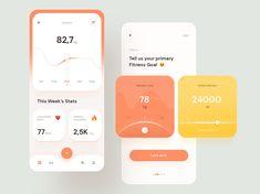 Fitness Tracker app by Amin Salehi on Dribbble Ui Design Mobile, Design Ios, Best Fitness Tracker App, Fitness App, Ux Design Portfolio, App Map, Motion App, Card Ui, Mobile App Ui