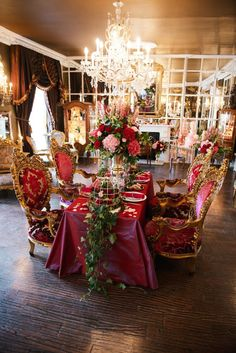 Strictly Weddings has brought you this Baroque-styled, Valentine wedding inspiration with sumptuous reds, delicate pinks and brilliant golds.