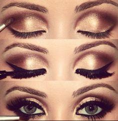 Ojos ahumados con sombras metalizadas