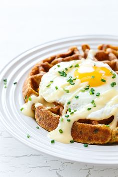 Breakfast for Dinner: Savory Cornmeal Waffles - The Kitchenthusiast