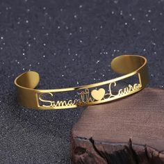 Cutomized Gold Name Cuff Bracelet Stainless Steel Adjustable Personalized ID Nameplate Bangles Bracelet Women Men BFF Jewelry Metal Color Gold-color Name Bracelet, Name Necklace, Bangle Bracelets, Bangles, Silver Bracelets, Back Jewelry, Cute Jewelry, Modern Jewelry, Jewelry Rings