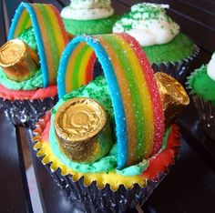 Cute St. Patty's cupcakes