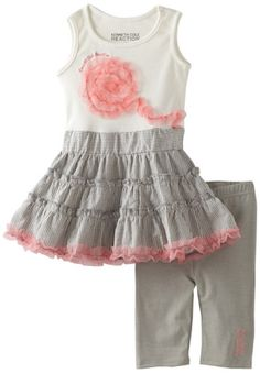 Kenneth Cole Baby-girls Infant Top And Capri Pant