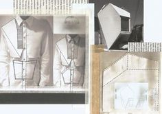 Fashion Portfolio - architecture inspired fashion design - shirt development; layout; fashion sketchbook
