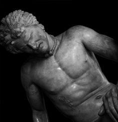 Galata morente, Roma, Musei Capitolini - Dying Galata, Rome, Capitoline Museums, detail