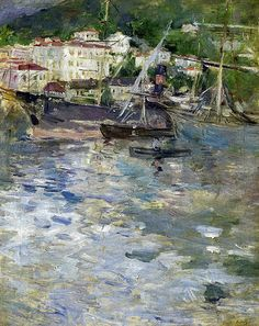 Berthe Morisot - Port of Nice, 1882 (Musee Marmottan Monet - Paris France) at Museo Thyssen-Bornemisza Madrid Spain