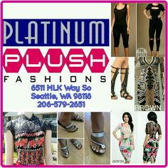 Get all the trendy fashions here at Platinum Plush Fashions.