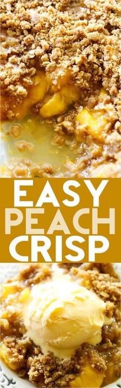 This Easy Homemade Peach Crisp is super simple and it tastes amazing! That crumb topping paired with the juicy peaches is a match made in…