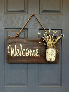 Rustic country home decor front porch welcome sign, spring decor for front porch, outdoor signs welcome, customizable gifts home wood signs - New Deko Sites