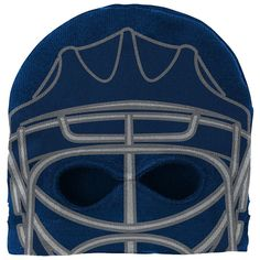 Youth Reebok St. Louis Blues Mask Knit Cap, Boy's, Blue (Navy)