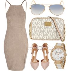 Neutral by jomashop on Polyvore featuring Glamorous, Steve Madden, Ray-Ban and beige