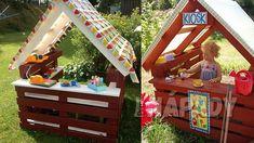 Nábytek z palet pro děti   Prima nápady Toddler Bed, Kids, Baby, House, Outdoor, Furniture, Home Decor, Food, Garten