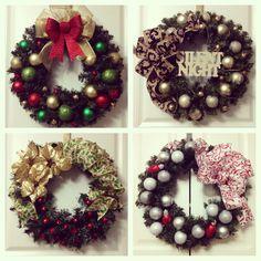 My Christmas wreaths for the Flea market!